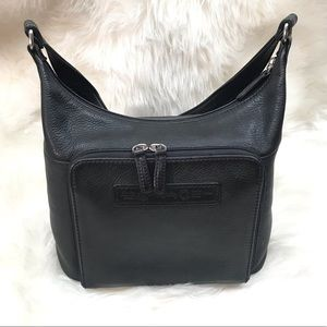 Fossil Black Leather #75082 Shoulder Bag Purse